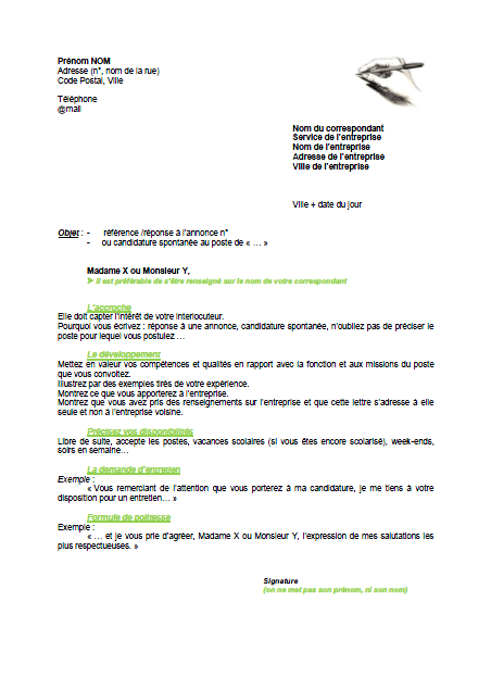 exemple lettre de motivation pdf